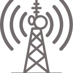 Gray Broadcast Tower Icon